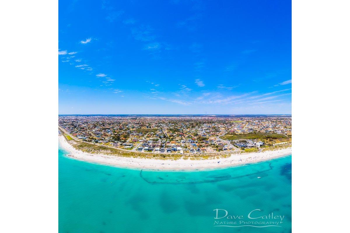 Quinns Paradise - Aerial View, Quinns Rocks, Perth, Western Australia, Seascape Cushion Cover (MQD1.1-V1-CC1)