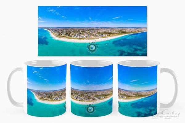 Quinns Paradise - Aerial View, Quinns Rocks, Perth, Western Australia, Seascape Mug (MQD1.1-V1-MG1)