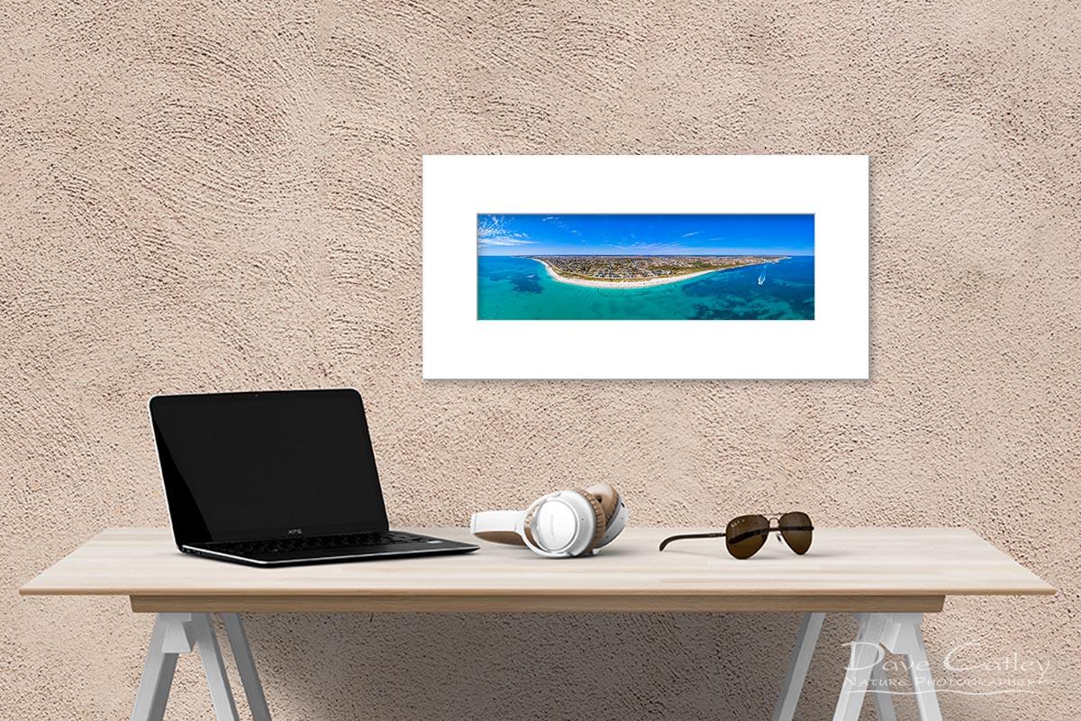 Quinns Paradise - Aerial View, Quinns Rocks, Perth, Western Australia, Seascape Print (MQD1.1-V1-PH1)