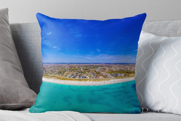 Quinns Paradise - Aerial View, Quinns Rocks, Perth, Western Australia, Seascape Cushion Cover (QCD1.1-V1-CC1)