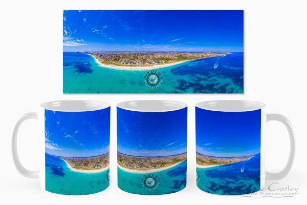 Quinns Paradise - Aerial View, Quinns Rocks, Perth, Western Australia, Seascape Mug (QCD1.1-V1-MG1)