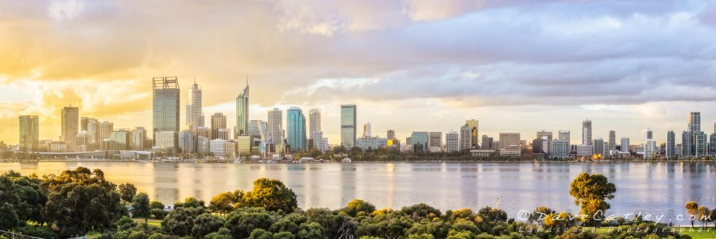 Afternoon City Glow, Perth City Skyline, Western Australia