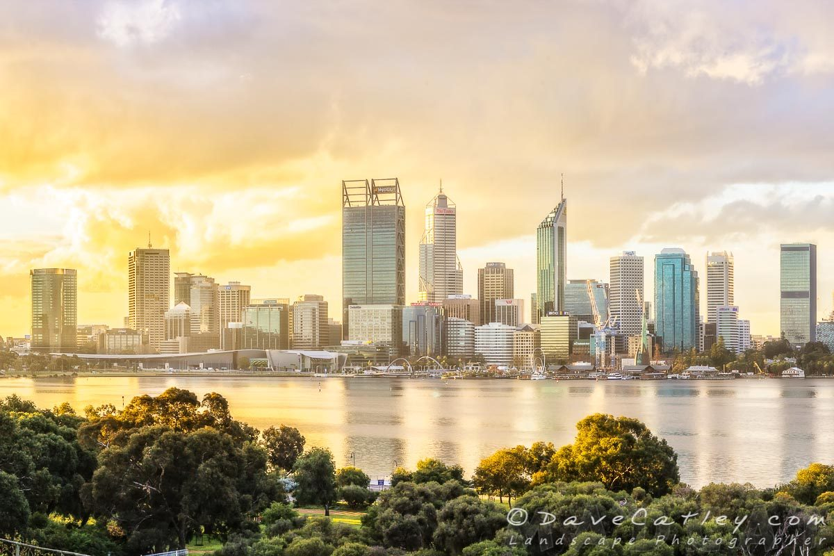 The Ever Changing Colours of the Perth City Skyline – 1