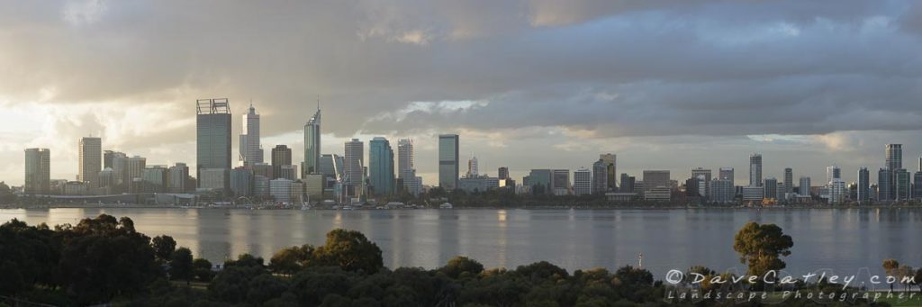 Afternoon City Glow, Perth City Skyline, Western Australia - Original