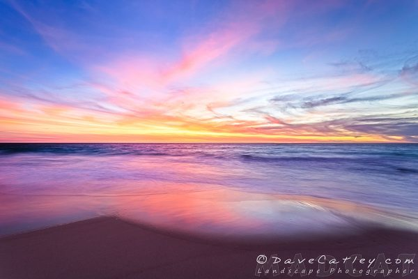Aussie Sunset Photographic Art, Claytons Beach, Mindarie, Western Australia