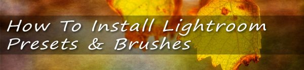 How to Install Lightroom Presets & Brushes