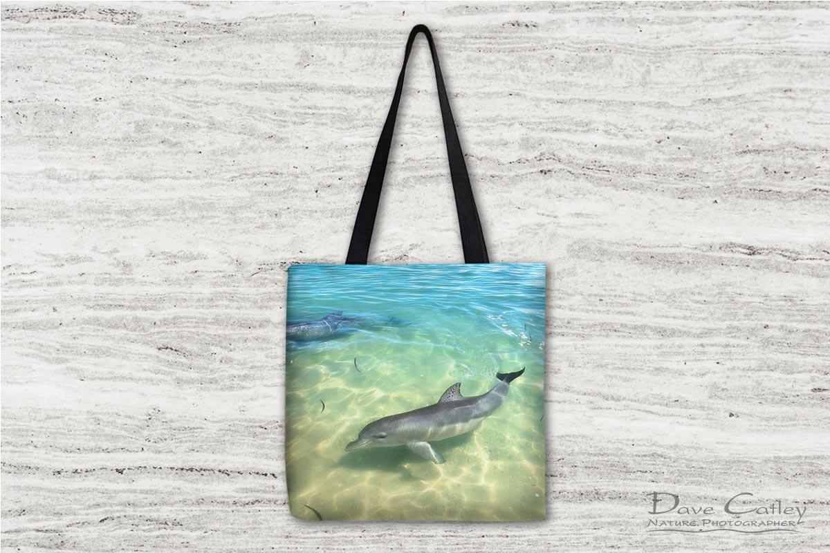 Samu - Baby Dolphin, Monkey Mia, Shark Bay, Western Australia, Wildlife Tote Bag (CCW1.1-V1-TB1)