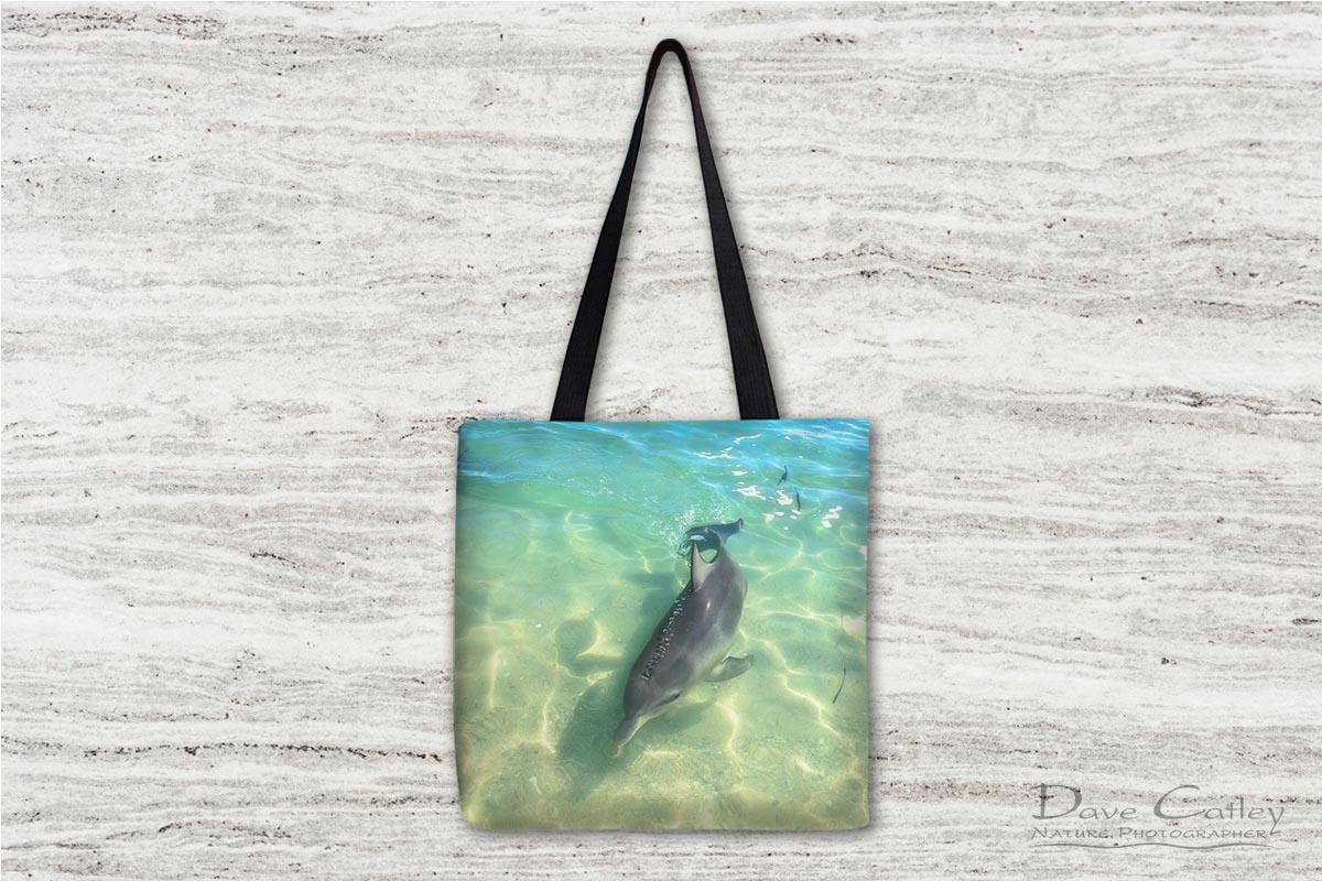 Samu - Baby Dolphin, Monkey Mia, Shark Bay, Western Australia, Wildlife Tote Bag (CCW1.2-V1-TB1)