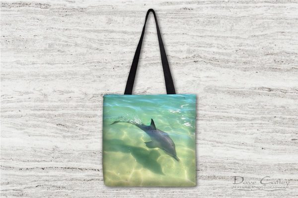Samu - Baby Dolphin, Monkey Mia, Shark Bay, Western Australia, Wildlife Tote Bag (CCW1.3-V1-TB1)