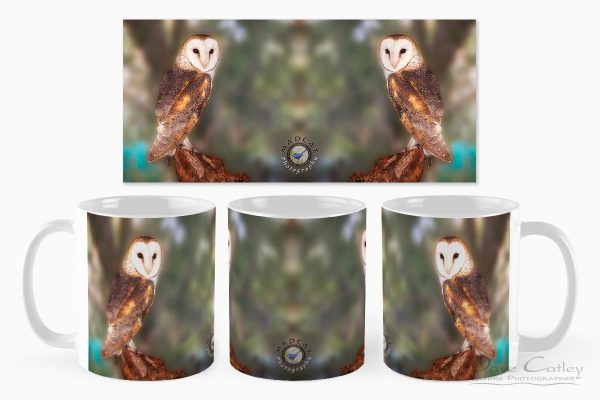 Chips - Barn Owl, Native Animal Rescue, Perth, Western Australia, Wildlife Mug (NAR1.8-V1-MG1)