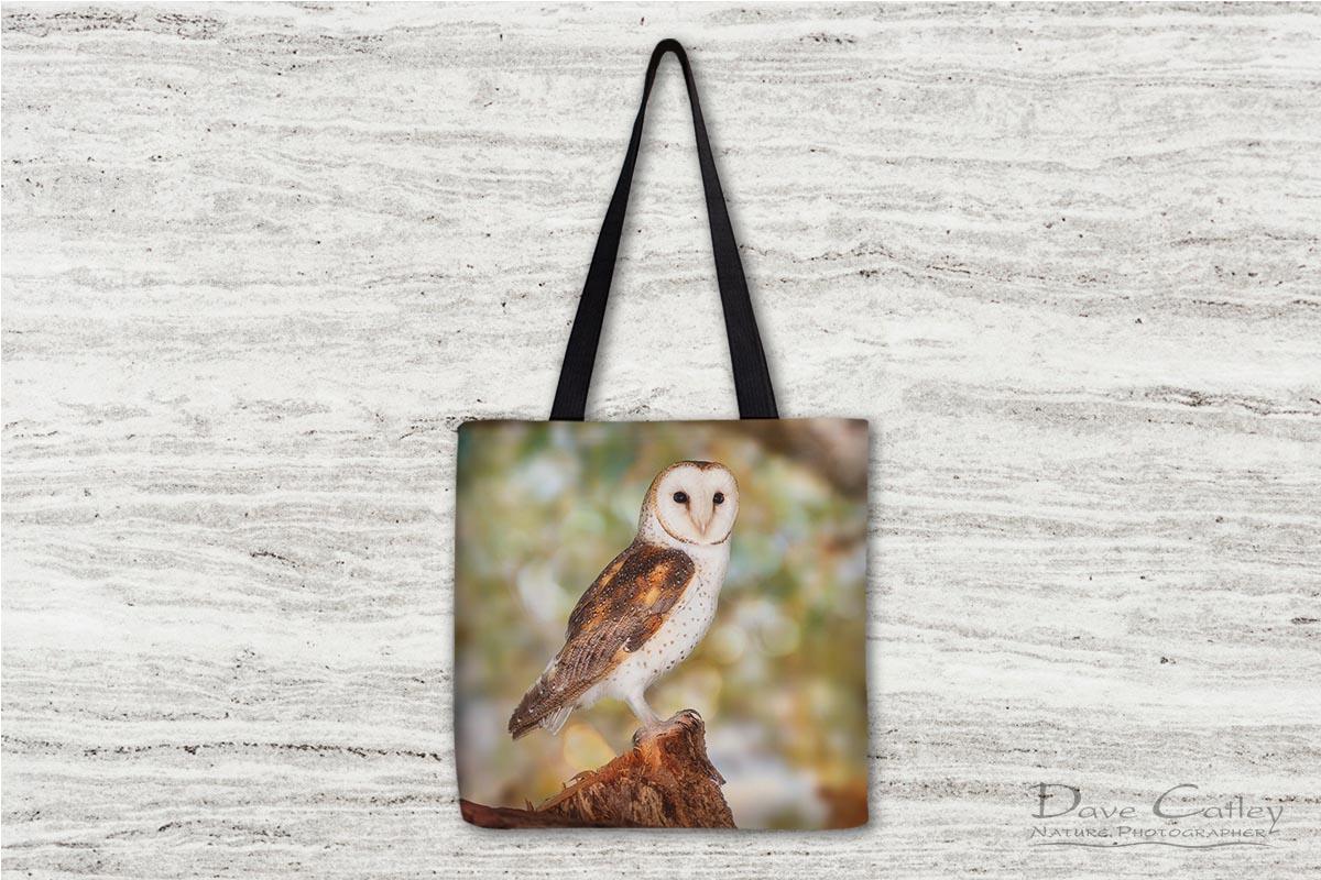 Chips the Owl - Barn Owl, Native Animal Rescue, Perth, Western Australia, Wildlife Tote Bag (NAR1.9-V2-TB1)
