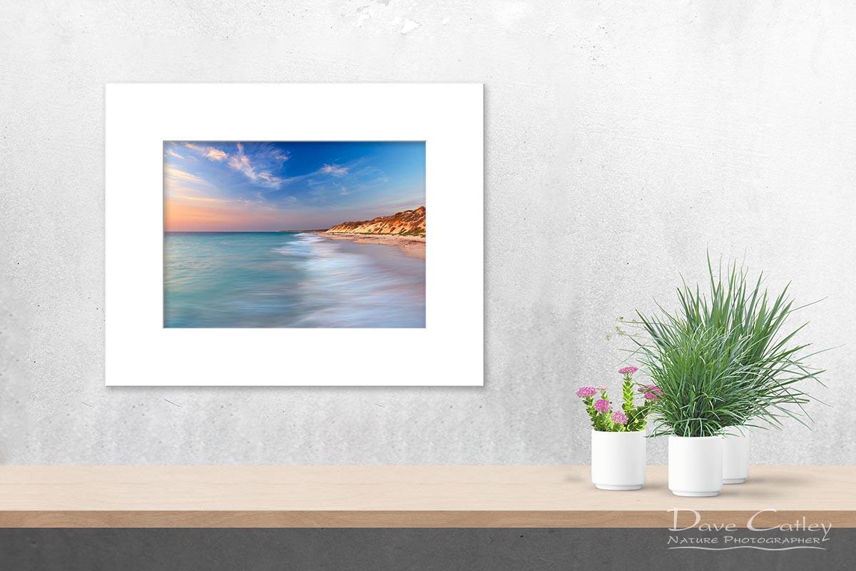 Smooth Waters - Beach Seascape, Quinns Rocks, Perth, Western Australia, Seascape Print (QRS1.8-V1-TH1)