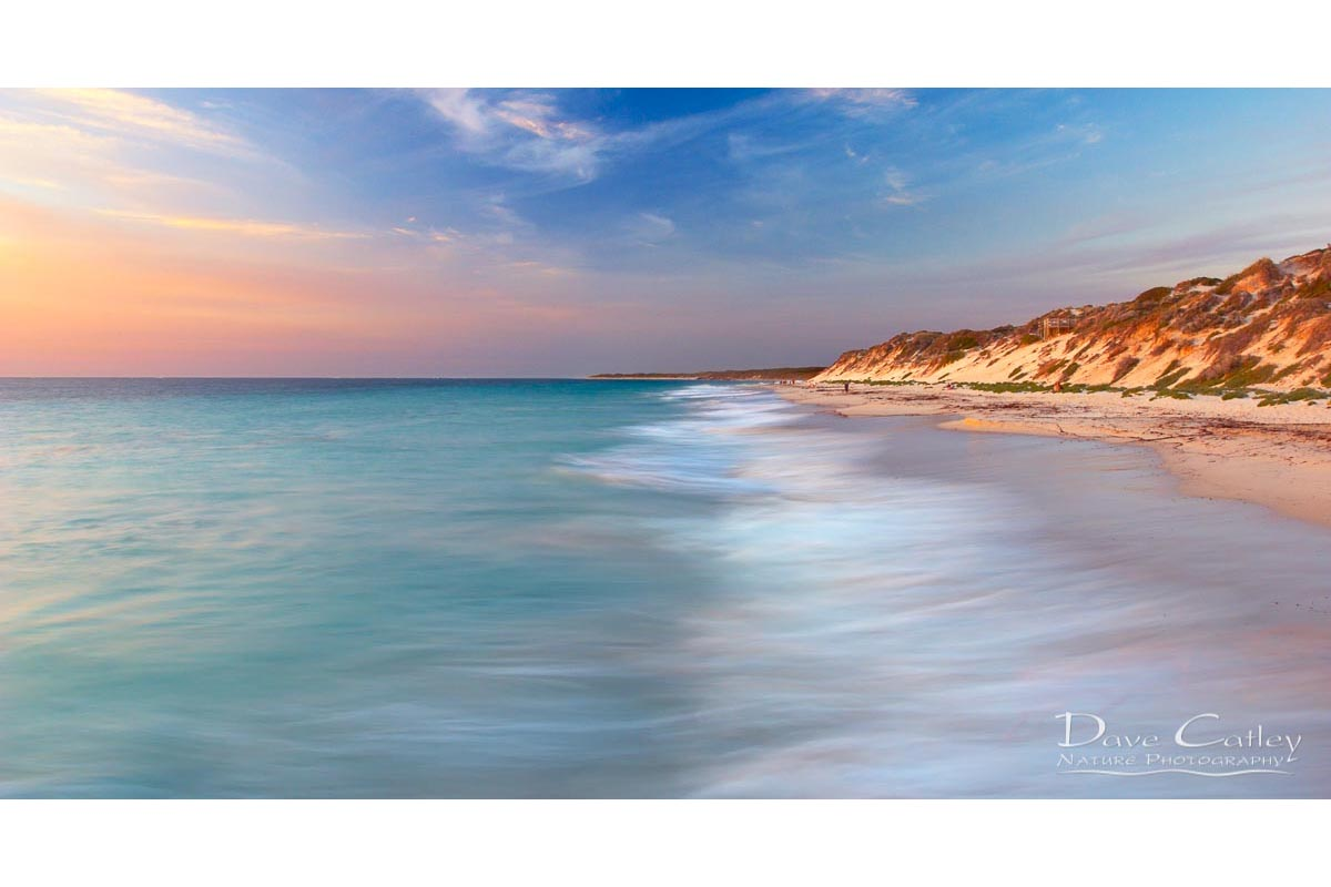 Smooth Waters - Beach Seascape, Quinns Rocks, Perth, Western Australia, Seascape Stubby Holder (QRS1.8-V1-SH1)