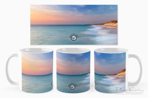 Smooth Waters - Beach Sunset, Quinns Rocks, Perth, Western Australia, Seascape Mug (QRS1.8-V1-MG1)