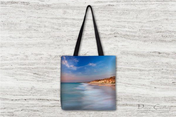 Smooth Waters - Beach Sunset, Quinns Rocks, Perth, Western Australia, Seascape Tote Bag (QRS1.8-V1-TB1)