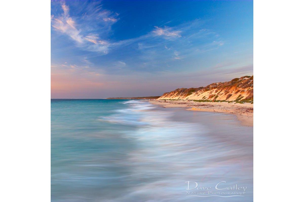 Smooth Waters - Beach Sunset, Quinns Rocks, Perth, Western Australia, Seascape Tote Bag (QRS1.8-V1-TB1)