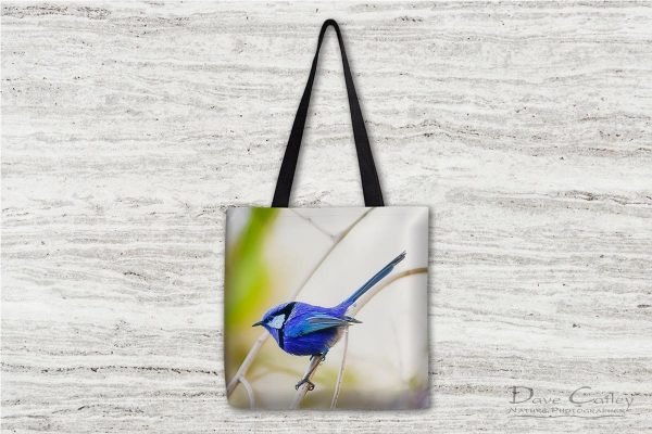 Sitting Pretty - Blue Wren, Bushy Lakes, Margaret River, Western Australia, Wildlife Tote Bag (BWB1.1-V2-TB1)
