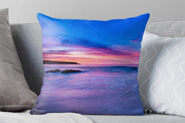 Pinky Blue - Bunker Bay, Geographe Bay, Margaret River, Western Australia, Seascape Cushion Cover (BBS2.1-V1-CC1)
