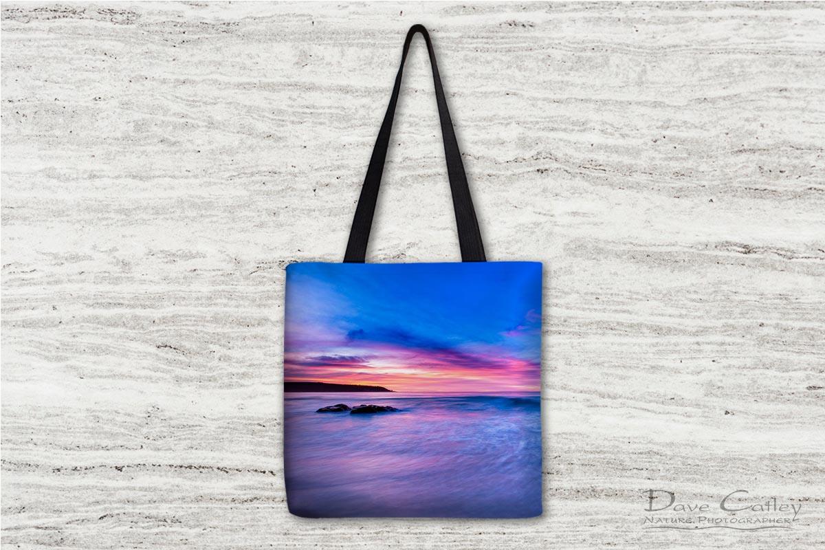 Pinky Blue - Bunker Bay, Geographe Bay, Margaret River, Western Australia, Seascape Tote Bag (BBS2.1-V1-TB1)