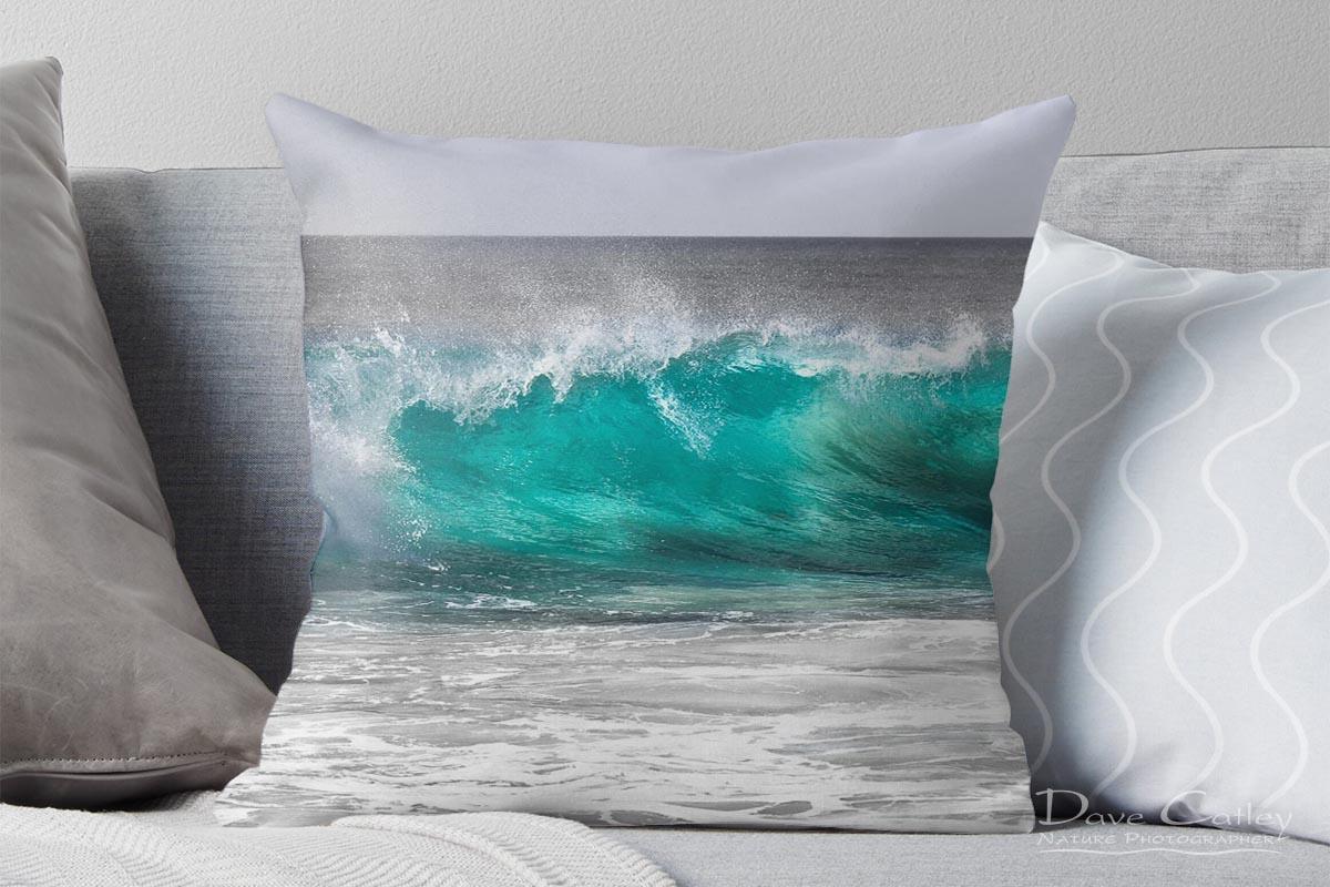 Aqua Wave - Bunker Bay, Geographe Bay, Margaret River, Western Australia, Seascape Cushion Cover (BWP1.1-V1-CC1)