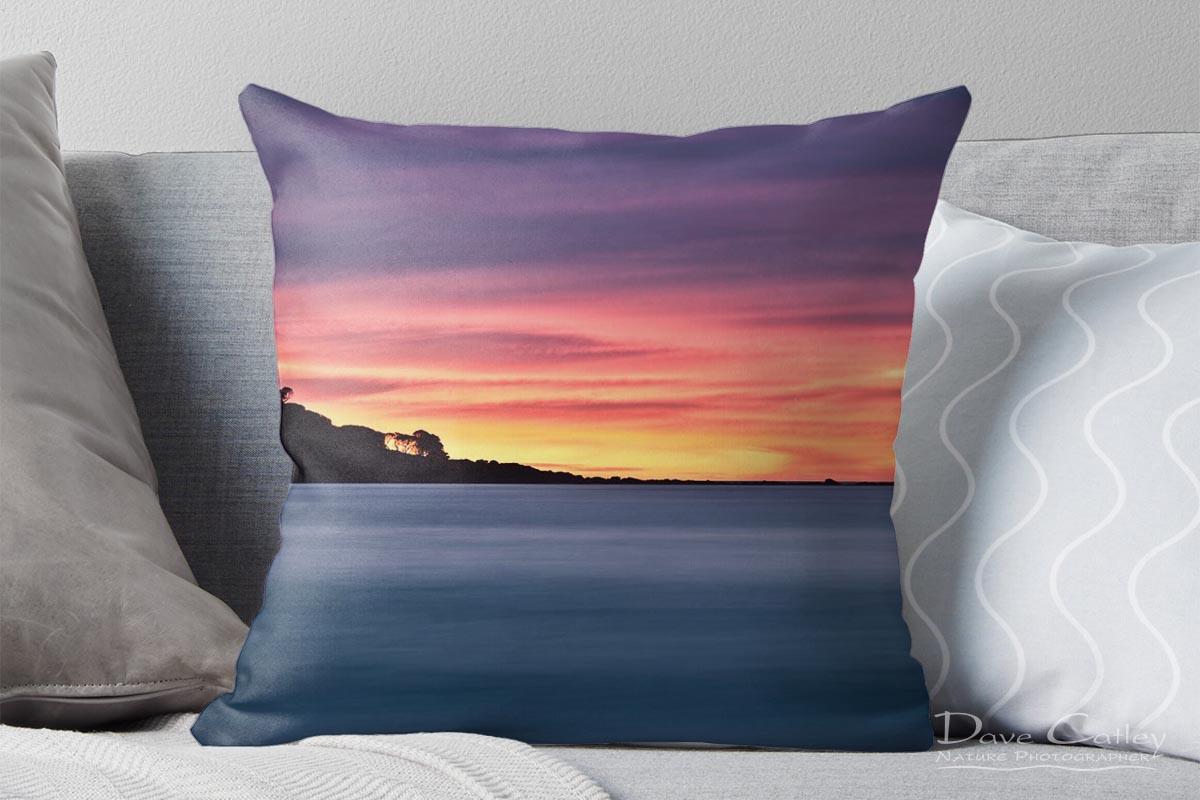 Sunset Peninsula - Bunker Bay, Naturaliste, Margaret River Region, Western Australia, Seascape Cushion Cover (BBP1.1-V1-CC1)