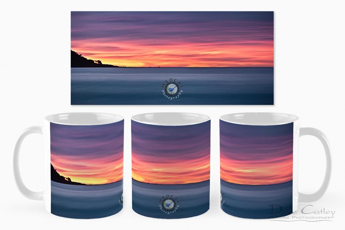 Sunset Peninsula - Bunker Bay, Naturaliste, Margaret River Region, Western Australia, Seascape Mug (BBP1.1-V1-MG1)
