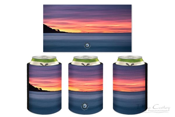 Sunset Peninsula - Bunker Bay, Naturaliste, Margaret River Region, Western Australia, Seascape Stubby Holder (BBP1.1-V1-SH1)