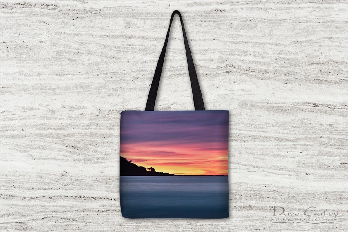 Sunset Peninsula - Bunker Bay, Naturaliste, Margaret River Region, Western Australia, Seascape Tote Bag (BBP1.1-V1-TB1)