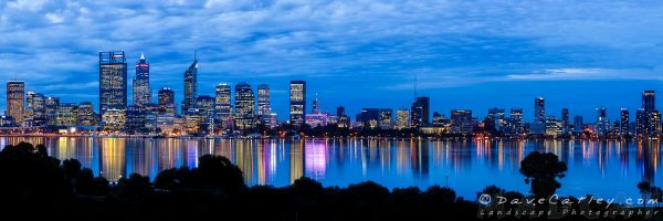 City Blues, Perth City Skyline, Western Australia - Photographic Art