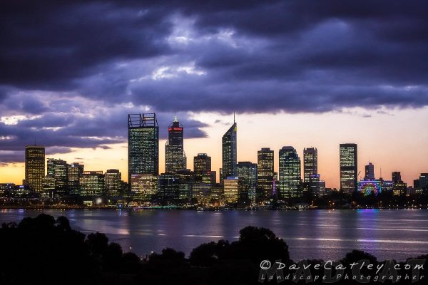 City Sunset, Perth City Skyline - Western Australian Landscape Photography