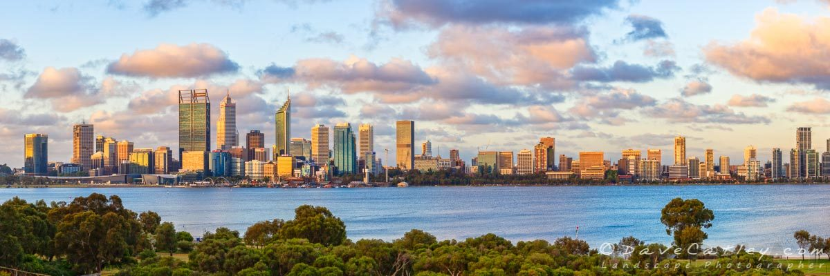 City of Gold 2, Perth City Skyline, Western Australia - Photographic Art