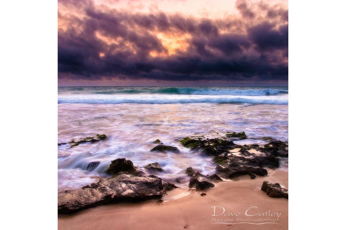 Stormy Night - Claytons Beach, Mindarie, Perth, Western Australia, Seascape Cushion Cover (MCR1.2-V2-CC1)