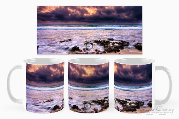 Stormy Night - Claytons Beach, Mindarie, Perth, Western Australia, Seascape Mug (MCR1.2-V2-MG1)