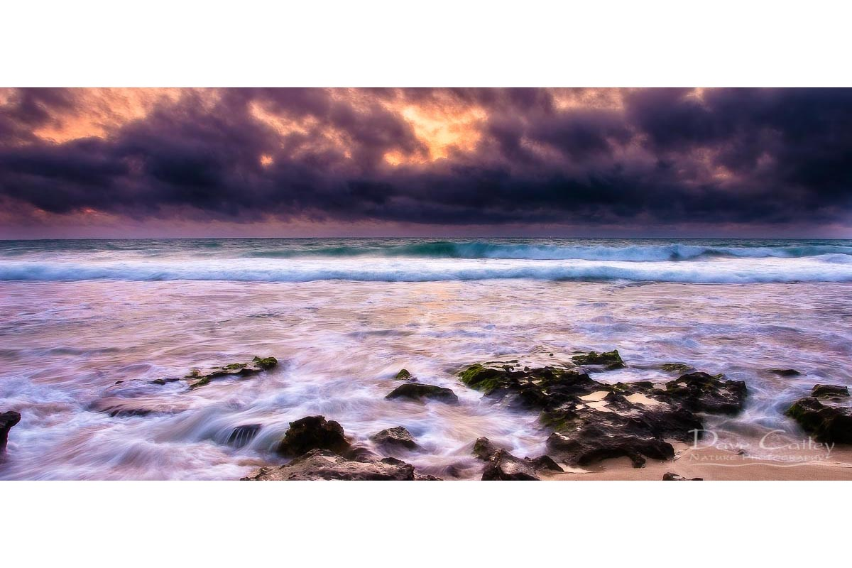 Stormy Night - Claytons Beach, Mindarie, Perth, Western Australia, Seascape Mug (MCR1.2-V2-MG1)