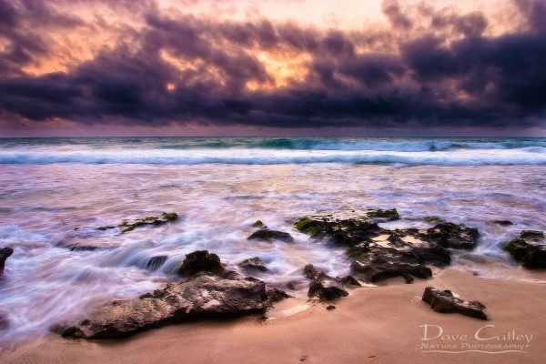 Stormy Night - Claytons Beach, Mindarie, Perth, Western Australia, Seascape Print (MCR1.2-V2-TH1)