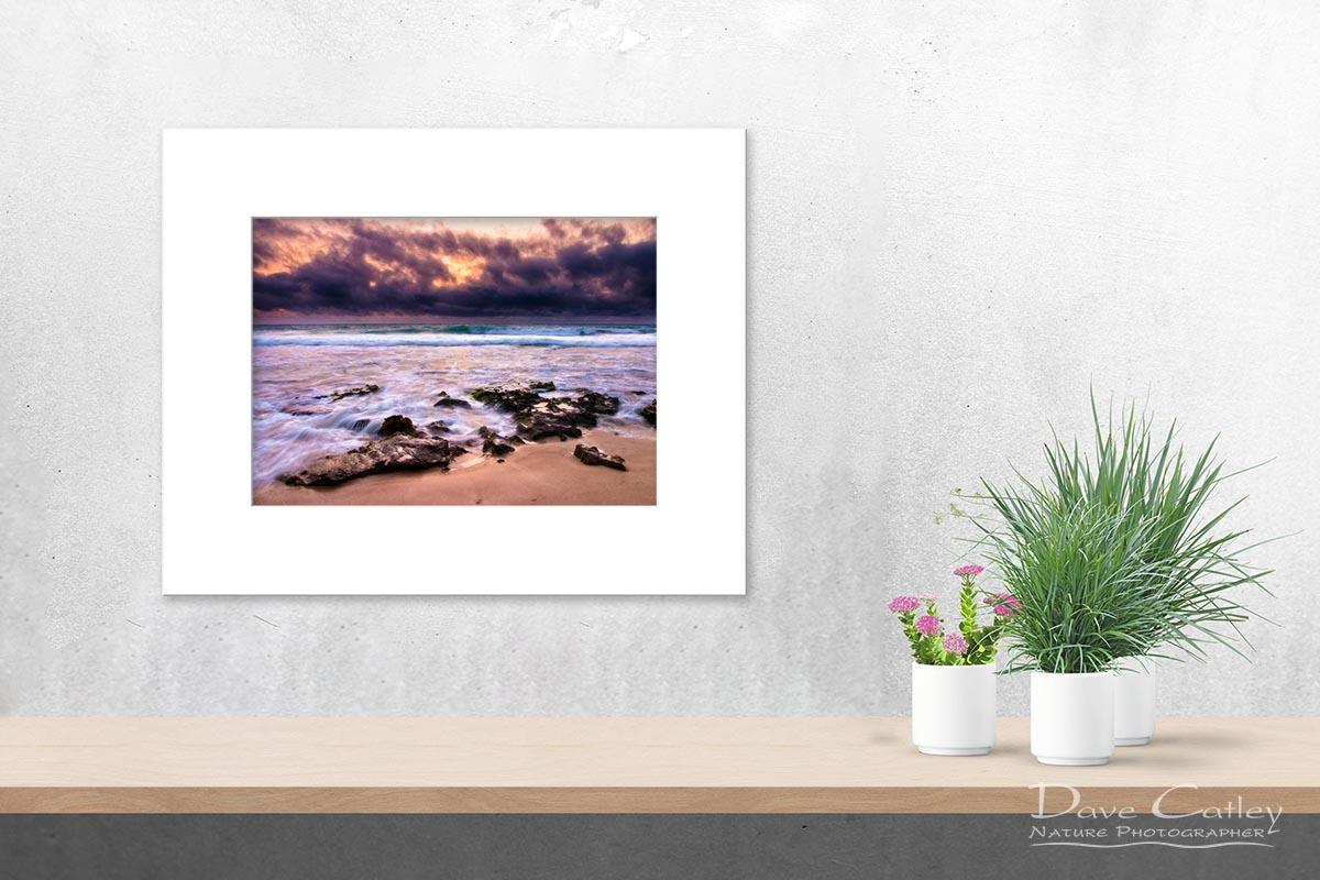 Stormy Night - Claytons Beach, Mindarie, Perth, Western Australia, Seascape Print (MCR1.2-V2-TH1)