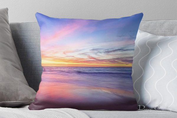 Aussie Sunset - Claytons Beach, Mindarie, Perth, Western Australia, Seascape Cushion Cover (MMS2.2-V1-CC1)