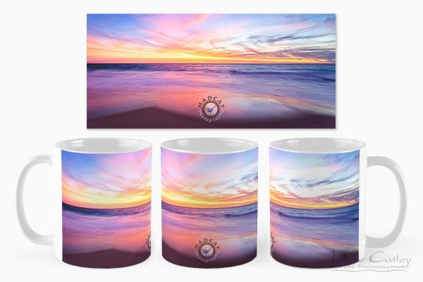 Aussie Sunset - Claytons Beach, Mindarie, Perth, Western Australia, Seascape Mug (MMS2.2-V1-MG1)