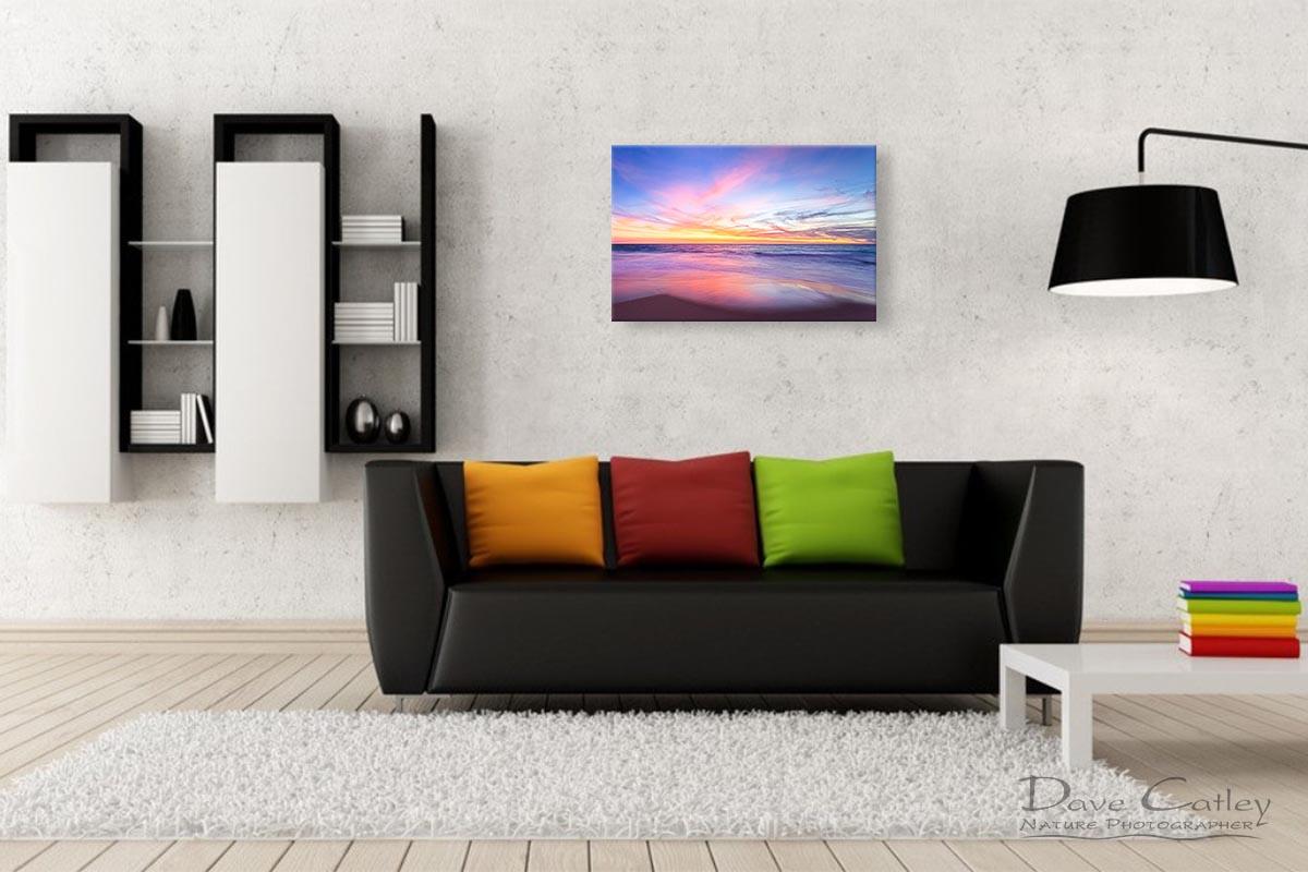 Aussie Sunset - Claytons Beach, Mindarie, Perth, Western Australia, Seascape Print (MMS2.2-V1-TH1)