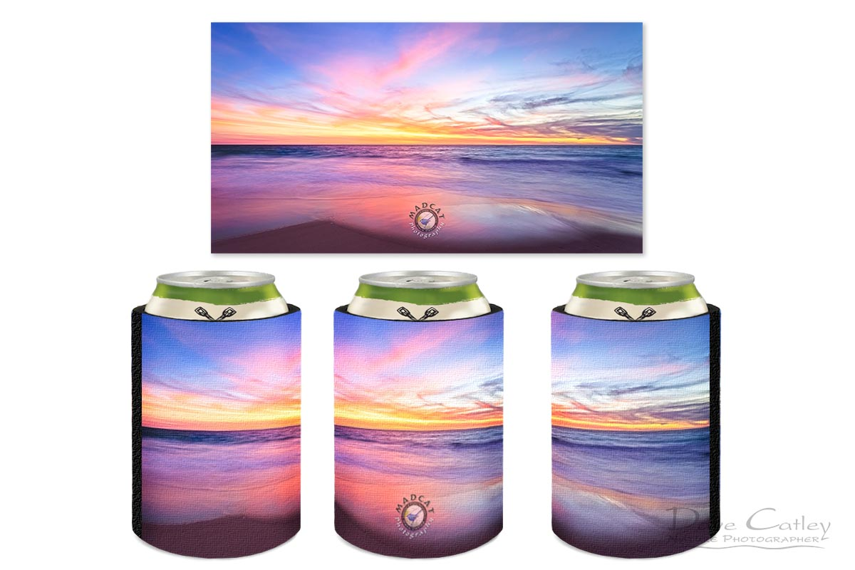 Aussie Sunset - Claytons Beach, Mindarie, Perth, Western Australia, Seascape Stubby Holder (MMS2.2-V1-SH1)