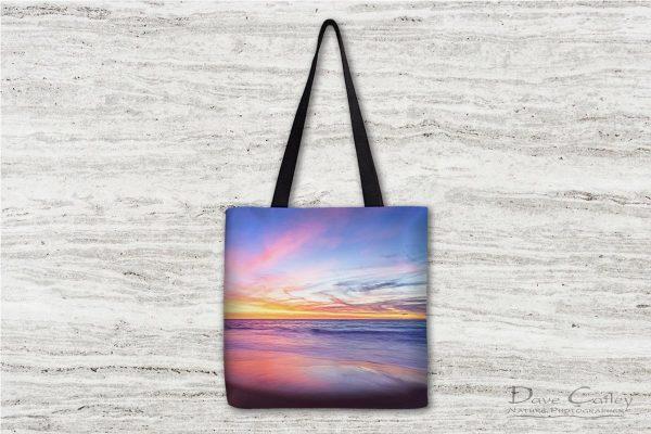 Aussie Sunset - Claytons Beach, Mindarie, Perth, Western Australia, Seascape Tote Bag (MMS2.2-V1-TB1)