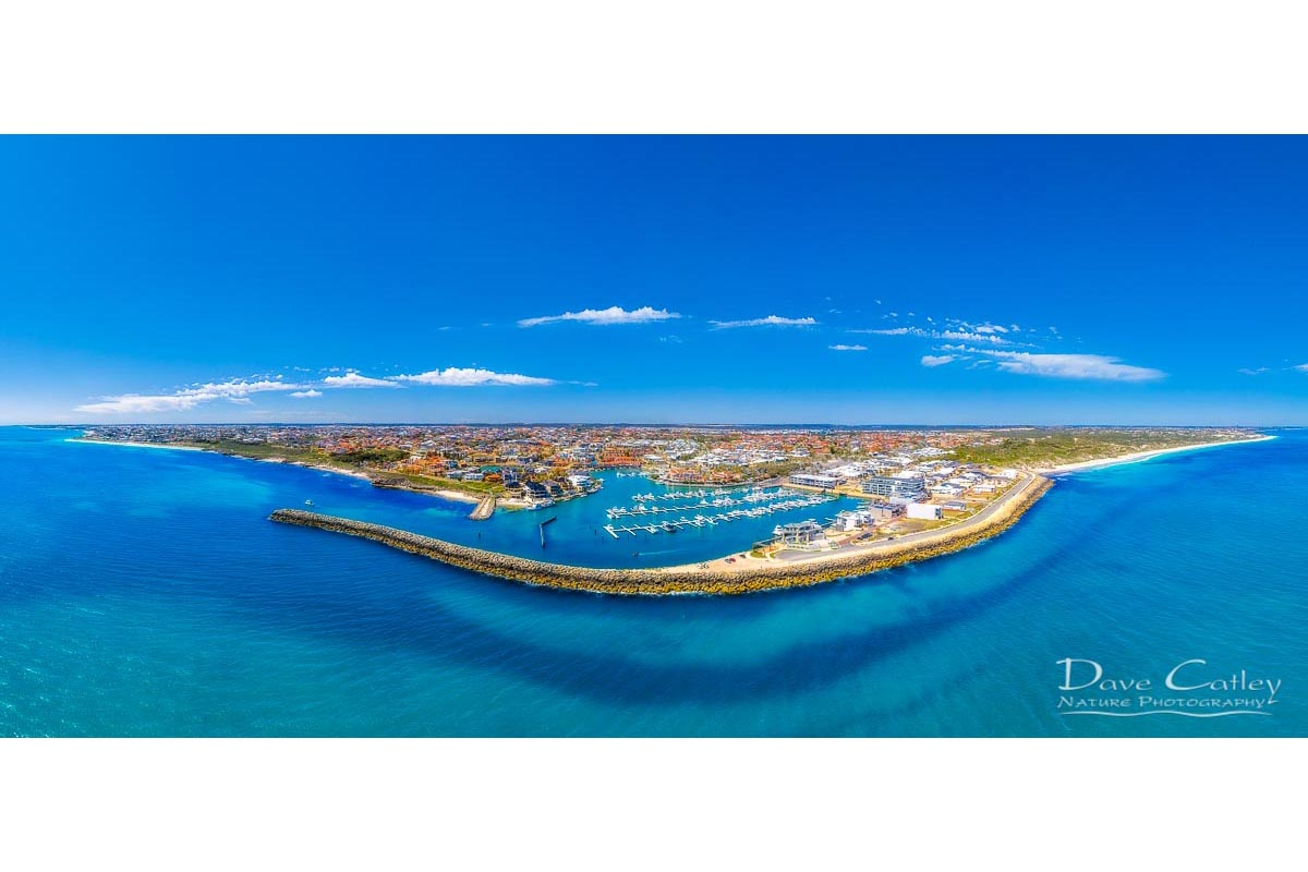 Marina Vista - Coastline Panorama, Mindarie, Perth, Western Australia, Seascape Mug (MCD1.2-V1-MG1)