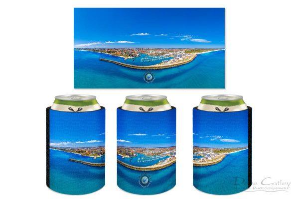 Marina Vista - Coastline Panorama, Mindarie, Perth, Western Australia, Seascape Stubby Holder (MCD1.2-V1-SH1)