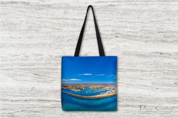 Marina Vista - Coastline Panorama, Mindarie, Perth, Western Australia, Seascape Tote Bag (MCD1.2-V1-TB1)