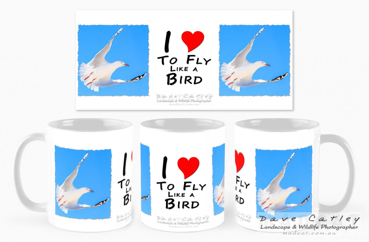 """I love to Fly Like a Bird"" Mugs - Wanneroo Markets"