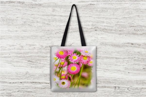 Pink Perfection - Everlasting Daisies, Kings Park, Perth, Western Australia, Flora Tote Bag (KPF1.1-V2-TB1)