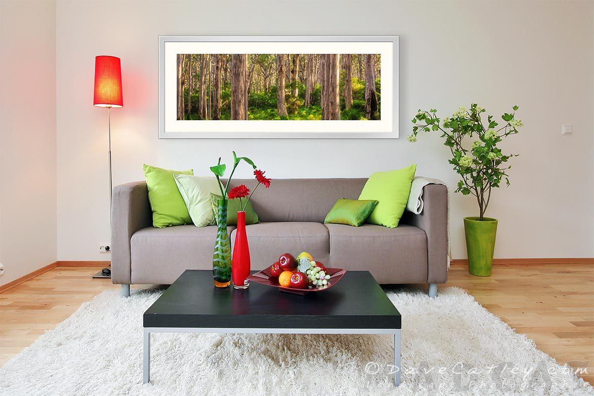 Forest Twilight 1, Boranup Forest, Margaret River, Western Australia - Living Room 1 Frame 50in (BFV1.1-V3-TH1)