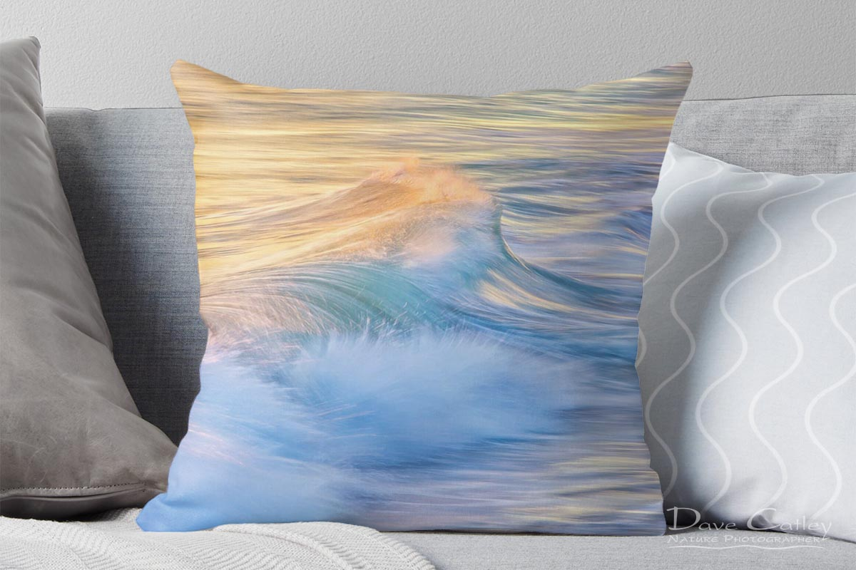 Waves in Motion 1 - Indian Ocean, Quinns Rocks, Perth, Western Australia, Seascape Cushion Cover (WIM1.1-V1-CC1)