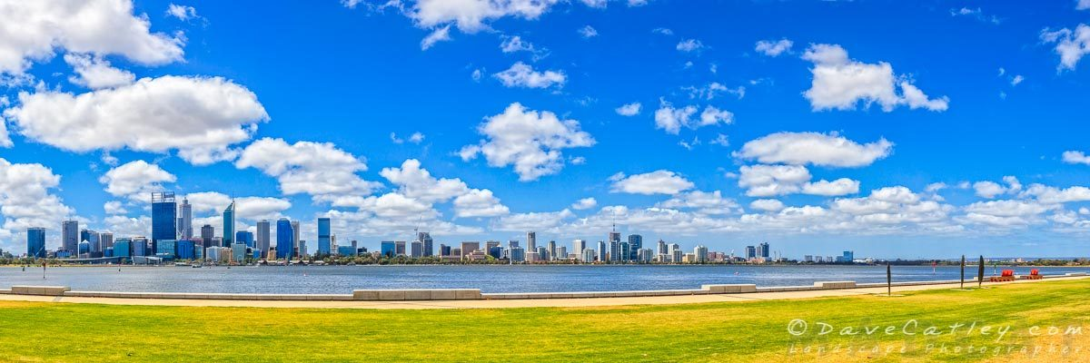 Lazy Afternoon, Perth City Skyline, Western Australia - Photographic Art
