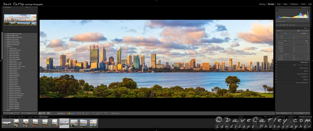 Final Image in Lightroom, Perth City Skyline, Perth, Western Australia